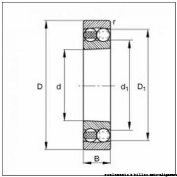 25,000 mm x 52,000 mm x 18,000 mm  SNR 2205 roulements à billes auto-aligneurs