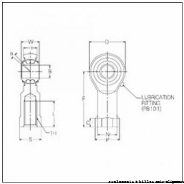 18 mm x 42 mm x 23 mm  ISB GE 16 BBH roulements à billes auto-aligneurs